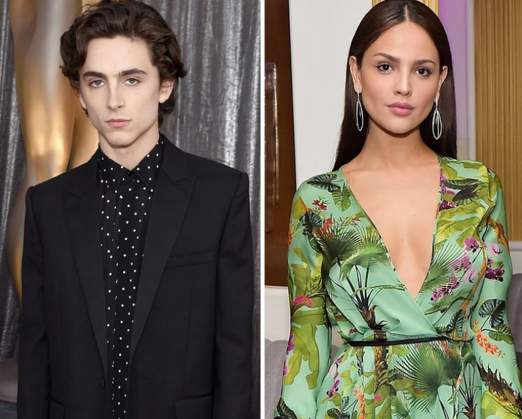 Timothee Chalamet (Left) with his new girlfriend, Eiza Gonzalez (Right)