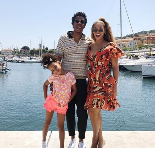 Blue Ivy Carter With Her Parents