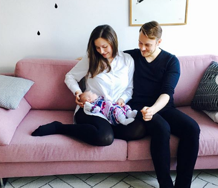 Sanna Marin With Her Husband and Child