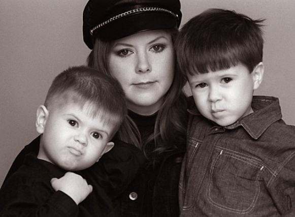 Kirsty MacColl With Her Child