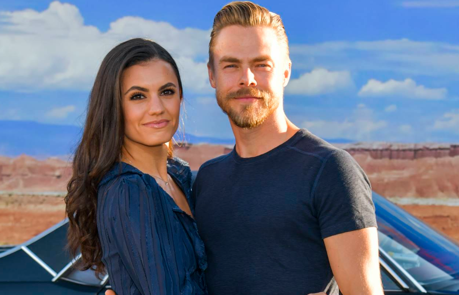 Hayley Erbert with her boyfriend Derek Hough