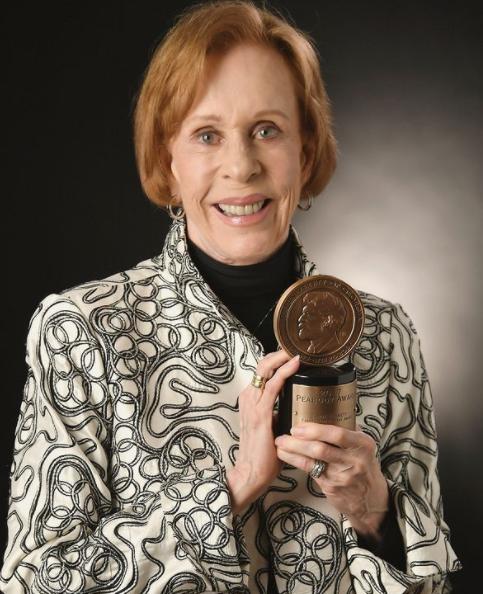 Carol Burnett with Peabody Award