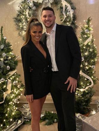 Josh Allen With His Girlfriend Brittany