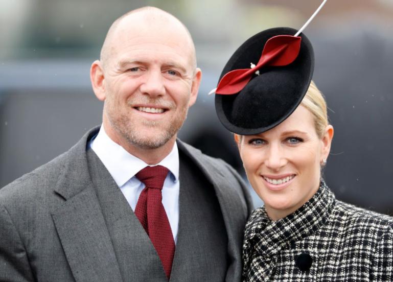 Zara Tindall with her husband, Mike Tindall