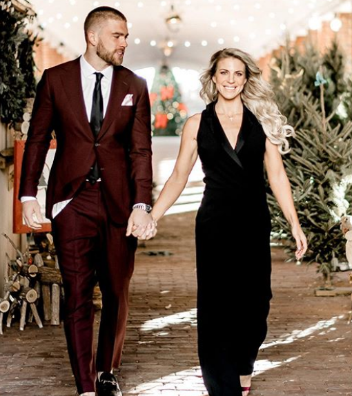 Zach Ertz With His Wife, Julie