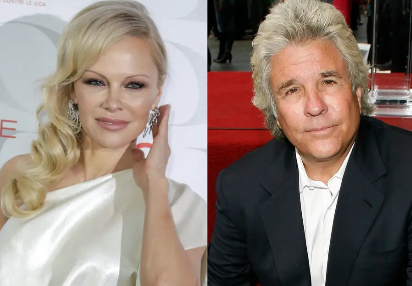 Jon Peters (Right) and Pamela Anderson (Left)