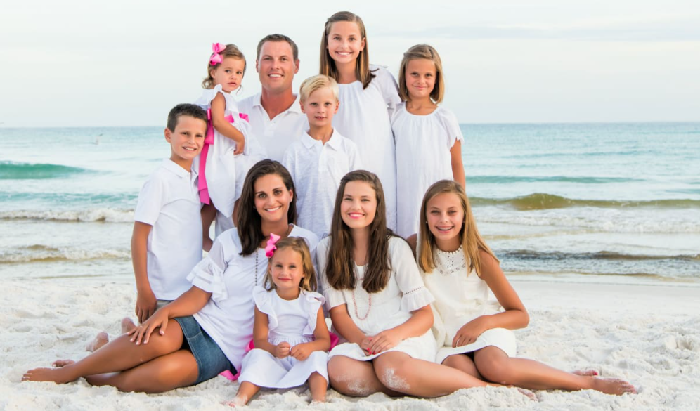 Philip Rivers with his wife and their kids