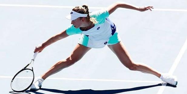 Elise Mertens Targeting To Hit The Ball