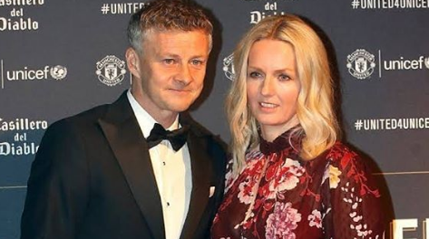 Ole Gunnar With His Wife