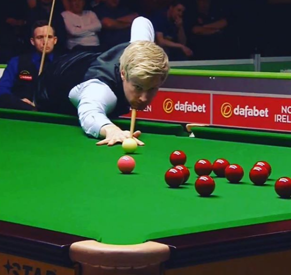 Neil Robertson Playing Snooker