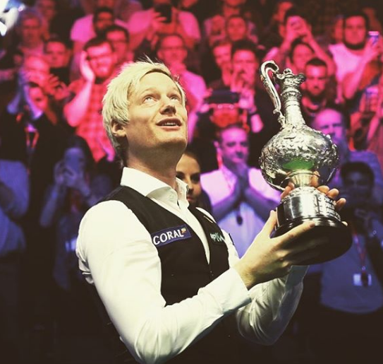 Neil Robertson With Trophy