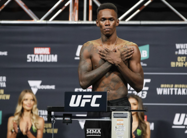 Israel Adesanya, a famous fighter