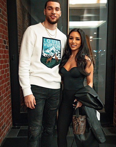 Zach LaVine With His Girlfriend
