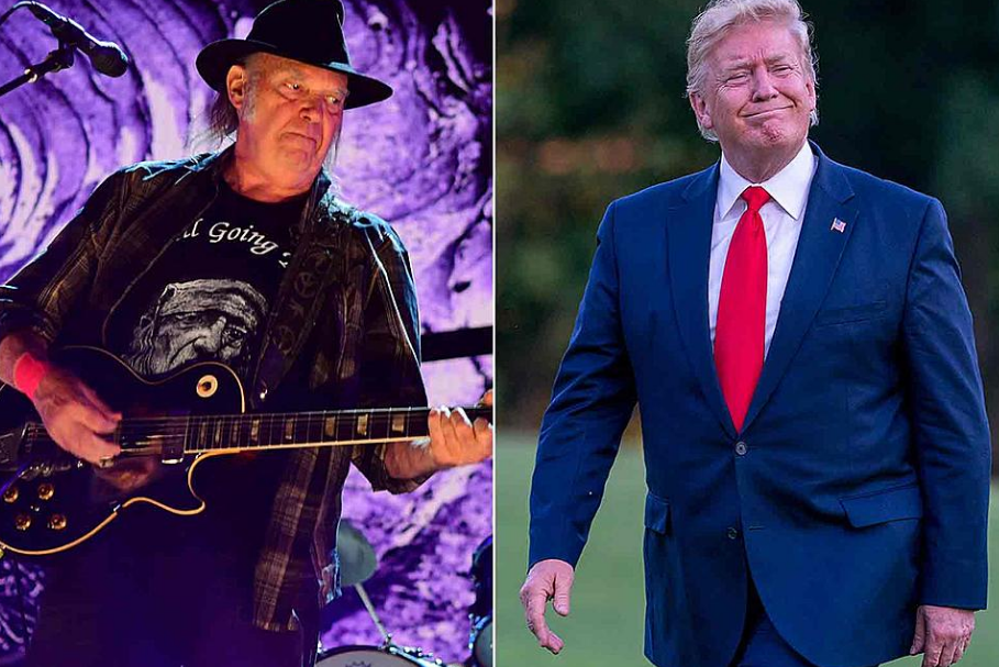 Neil Young (Left) and Donald Trump (Right)
