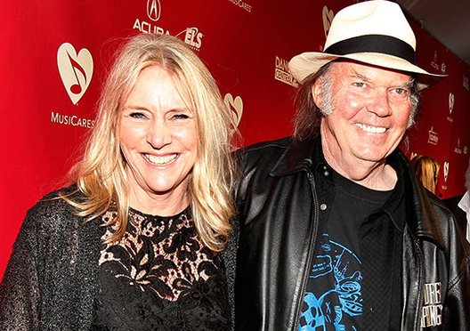 Neil Young With His Ex Wife Pegi Young