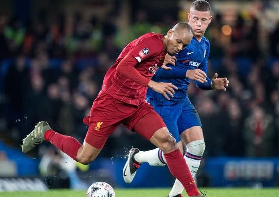 Fabinho Against The Opponent