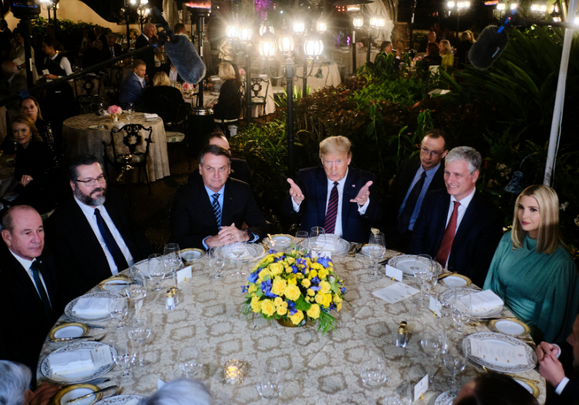 Jair Bolsonaro With Trump And Other Presidents