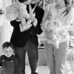 Bob Dylan with his ex-wife Sara Lownds and his children