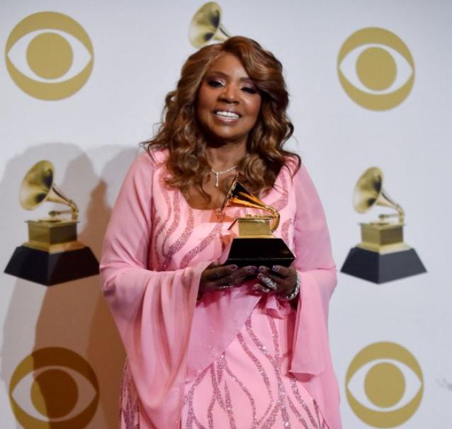 Gloria Gaynor with Grammy Award