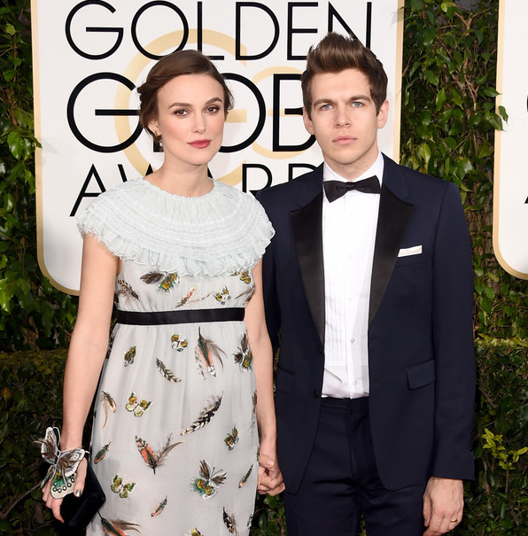 Keira Knightley with her husband, James Righton