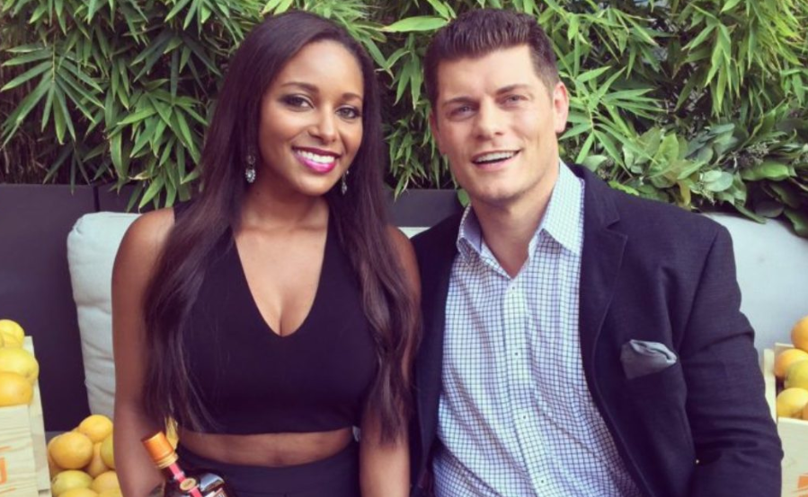 Brandi Rhodes With Her Husband, Cody