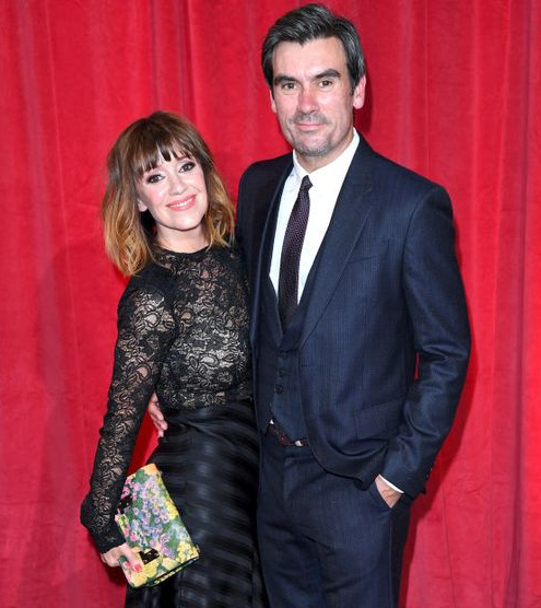 Zoe Henry with Her Husband Jeff Hordley