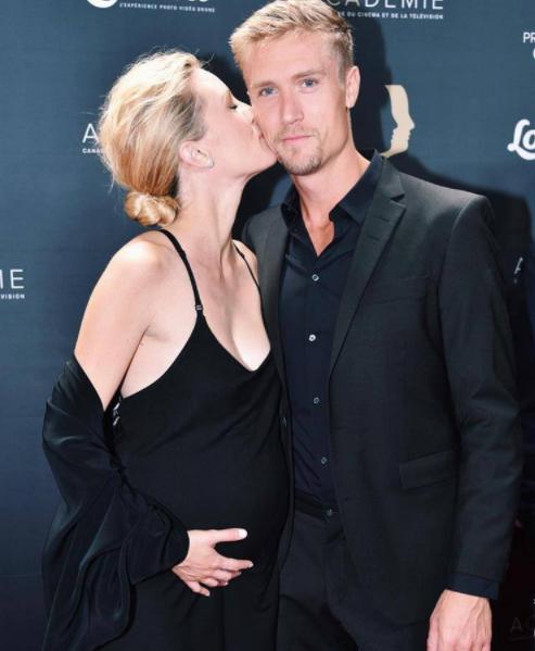 Evelyne Brochu Pregnant with her boyfriend Nicolas Schirmer