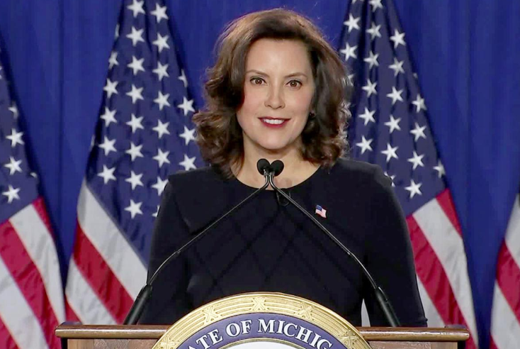 Gretchen Whitmer, a member of the Democratic Party