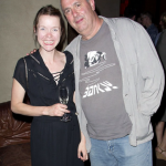 Anna Maxwell Martin and her husband, Roger Michelle Split