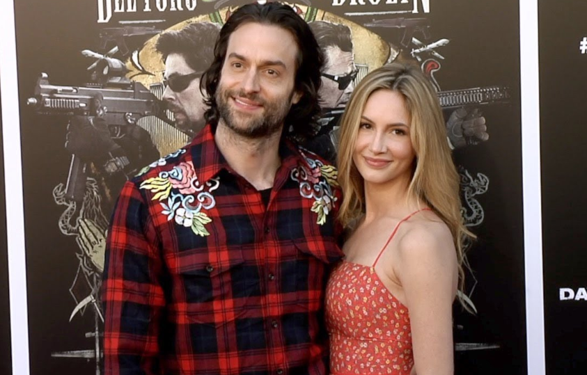 Chris D'Elia with his girlfriend, Kristin Taylor