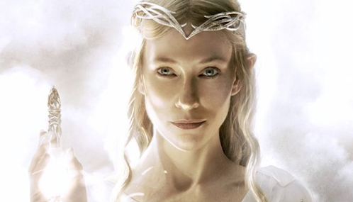 Cate Blanchett as Galadriel in The Hobbit