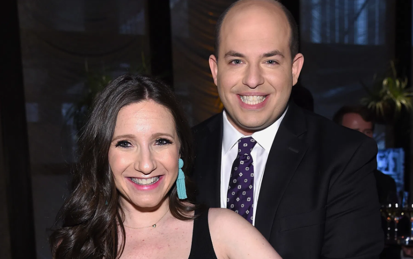 Brian Stelter With His Wife Jamie Shupak