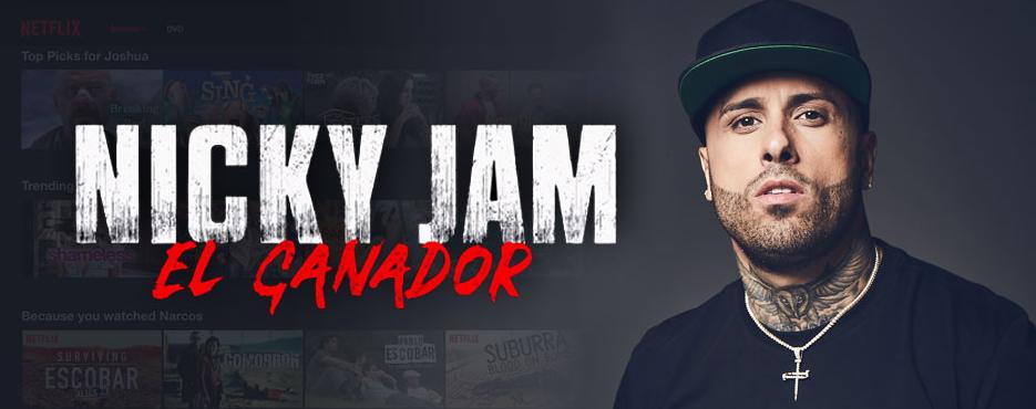 Nicky Jam in Netflix Biographical serie El Ganador