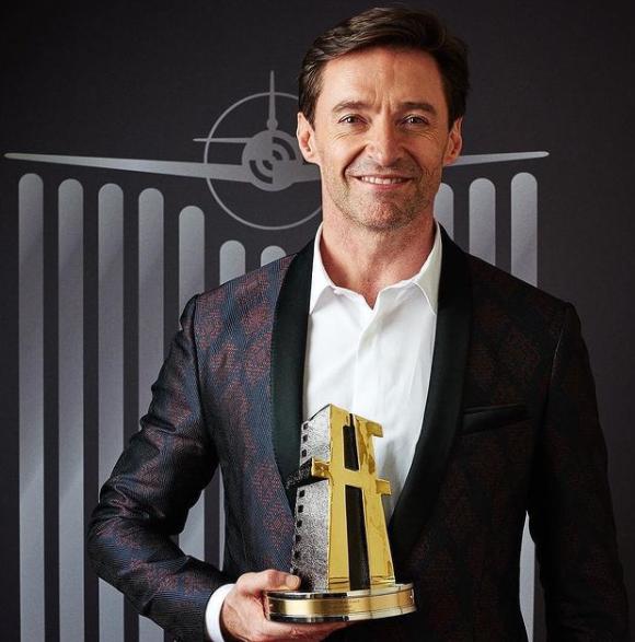 Hugh Jackman with Award
