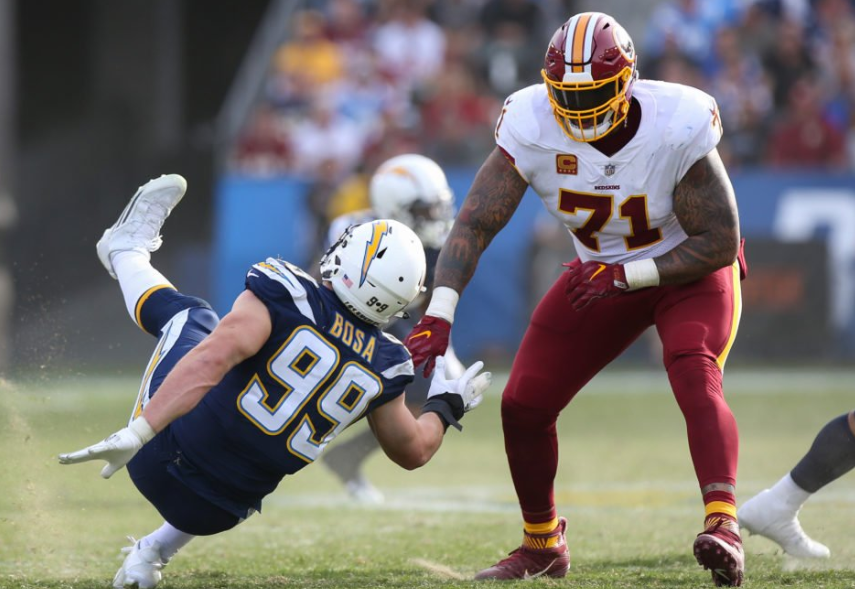 Trent Williams Against The Opponent