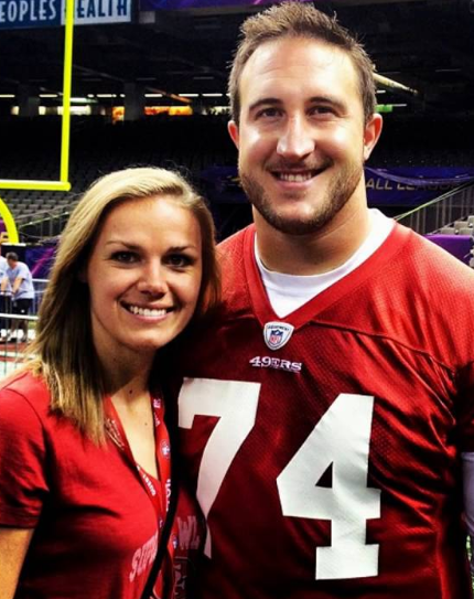 Joe Staley with his wife