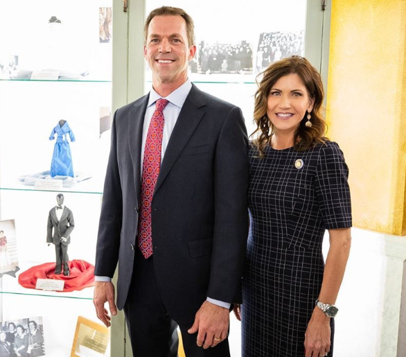 Kristi Noem and her husband, Bryon Noem