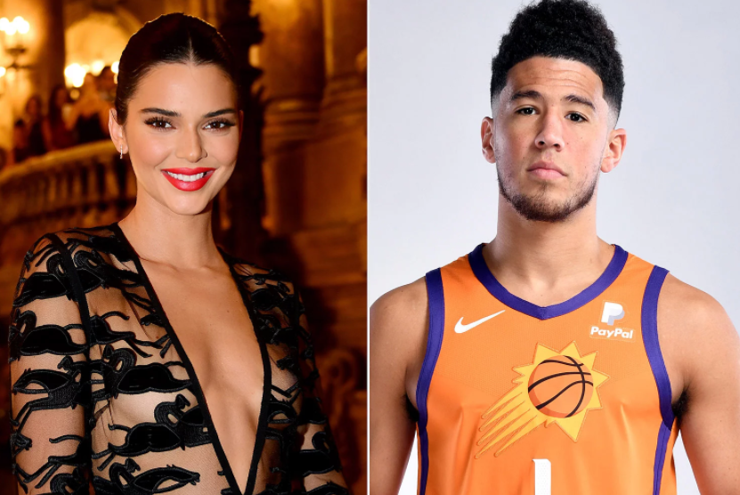 Kendall Jenner (Left) and Devin Booker (Right)