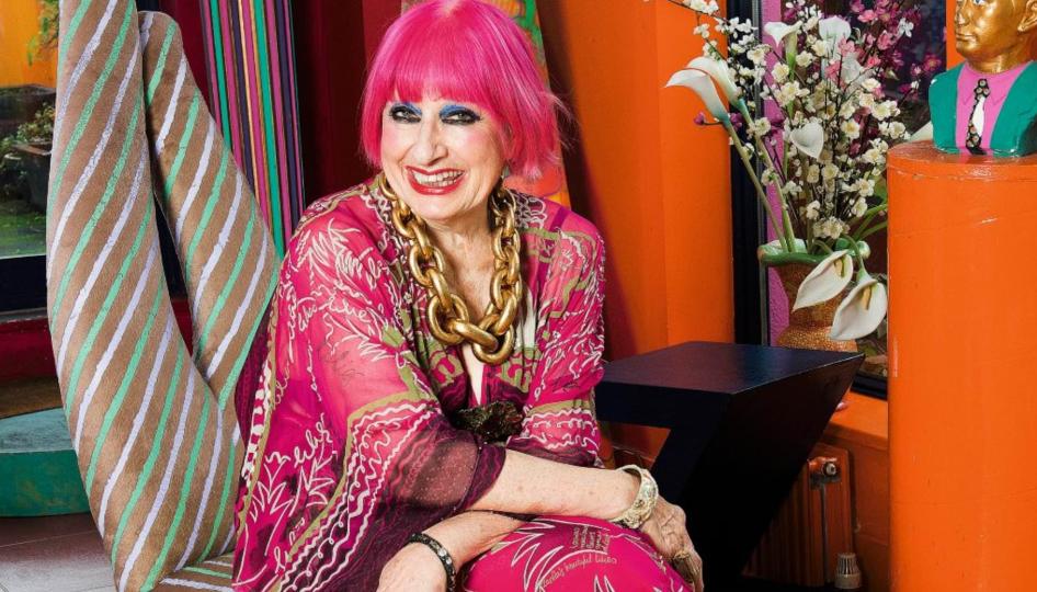 Zandra Rhodes, a famous designer