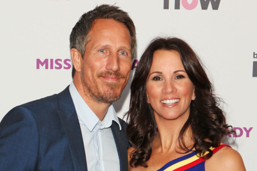 Andrea McLean With Her Husband Nick Feeney