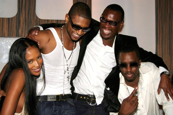 Andre Harrell with Usher, Naomi Campbel, and Sean 'Diddy' Combs