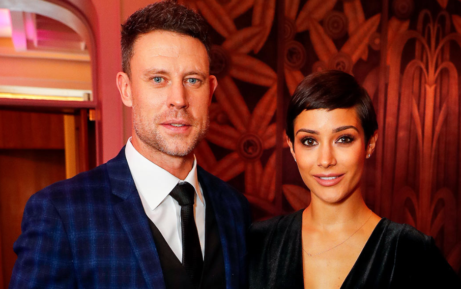 Frankie Bridge with her husband, Wayne Bridge