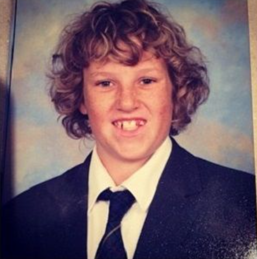 Corey La Barrie During His Childhood Age