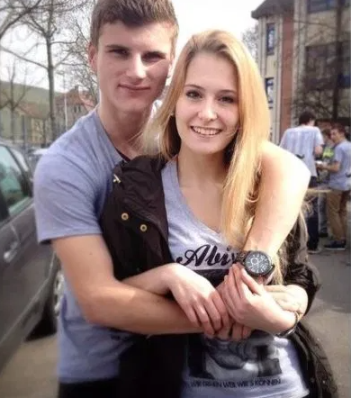 Timo Werner With His Girlfriend, Julia Nagler