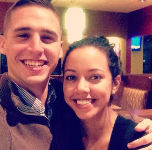 Hagen Mills with his girlfriend, Erica Price