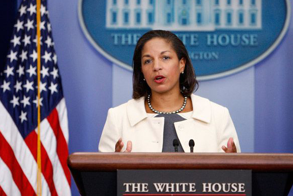 Susan Rice, a diplomat, academic, Democratic policy advisor, and former public official