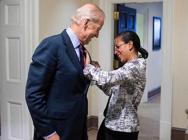 Susan Rice and Joe Biden