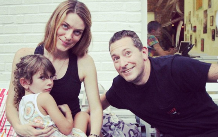 Leah McSweeney with her ex-boyfriend, Rob Cristofaro, and their daughter, Kiki.