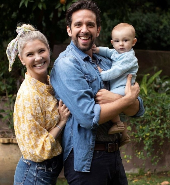 Amanda Kloots With Her Husband, Nick Cordero and her child