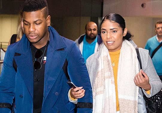 John Boyega with his mystery girlfriend